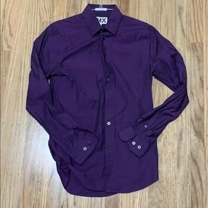 Purple long sleeve button down. Small 14-14.5
